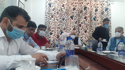 Vice-Chancellors of CUK, CUJ and others attending consultative meeting of Central Varsities of Kashmir, Jammu and HP.
