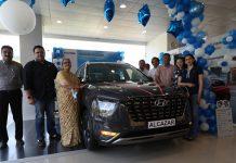 Dignitaries during launch of Hyundai Alcazar at AM Hyundai Paloura.