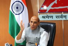 Union Minister for Defence, Rajnath Singh addressing at the inauguration of the 'Centre of Excellence for Road Safety & Awareness' and 'Centre of Excellence for Roads, Bridges, Air Fields and Tunnels' established by the Border Roads Organisation (BRO), in New Delhi on Friday.