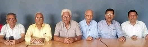 Members of Consumer Welfare Association during meeting at Jammu on Thursday.