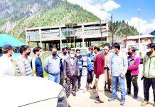 DHS Kashmir taking stock of healthcare arrangements at Baltal Base Camp on Friday.