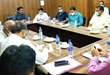 Narinder Singh chairing a meeting of JMC's Public Health & Sanitation Committee on Tuesday.