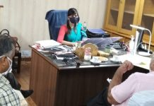 Secretary Cooperatives chairing a meeting on Tuesday.