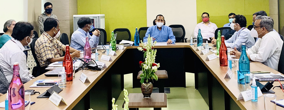 Union Minister Dr Jitendra Singh addressing scientists and officers at Technology Bhawan, New Delhi on Saturday.