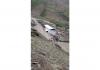 Water flowing after cloudburst in Kargil on Tuesday.
