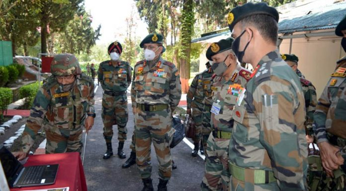 Chief of Defence Staff General Bipin Rawat reviewing security situation and operational preparedness at Rajouri-Poonch sector along Line of Control on Thursday.