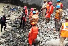 NDRF team continues search operation in river Chenab to trace four family members including RPF Sub Inspector in Ramban.