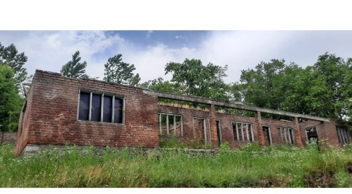 A view of under-construction school building in Handwara. — Excelsior/Aabid Nabi