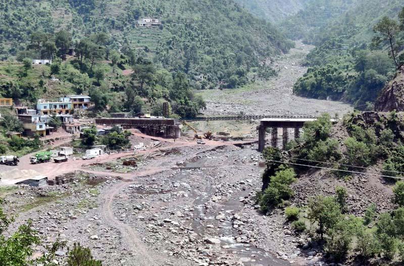 Work on Bhini bridge at Katli awaits completion.