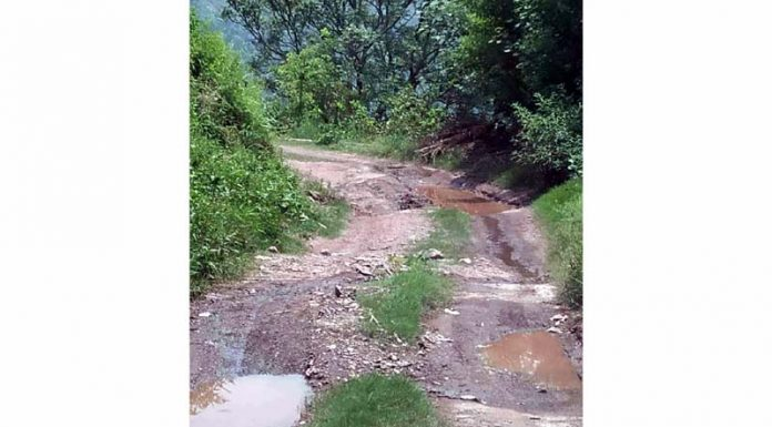 Katli-Dera Gali road self speaks about its condition.