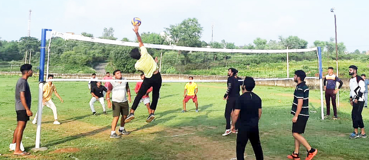 Players in action during a match at Birpur in Samba on Wednesday.