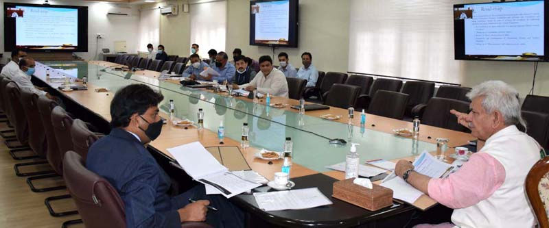 Lt Governor chairing review meeting of Culture Department on Monday.