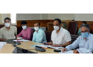 Chief Secretary chairing a meeting on Tuesday.