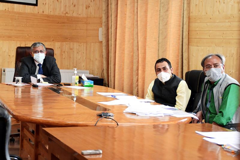 Advisor Ladakh Umang Narula attending the high level meeting.