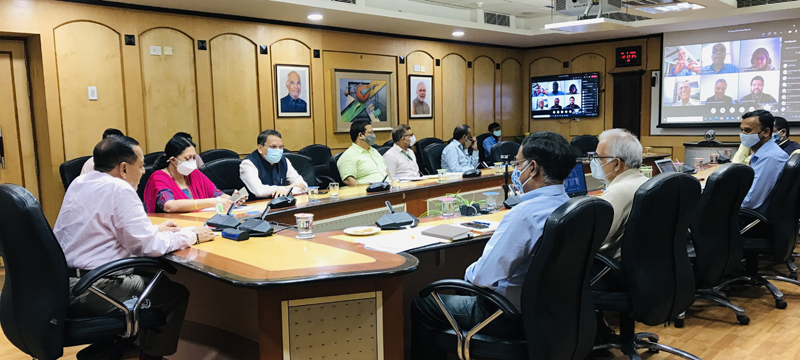 Union Minister Dr Jitendra Singh addressing a meeting of Review Committee on International Science & Technology Cooperation at New Delhi, on Wednesday.Union Minister Dr Jitendra Singh addressing a meeting of Review Committee on International Science & Technology Cooperation at New Delhi, on Wednesday.