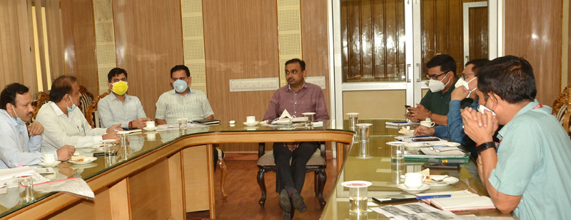 CEO Shrine Board Ramesh Kumar chairing a meeting on Wednesday.