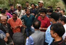 CEC Kargil during visit to flood affected area. —Excelsior/Basharat Ladakh