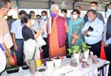 LG Manoj Sinha during inauguration of material recovery facility at Jammu on Friday.