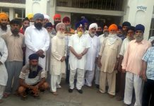 JKSAC leaders at a meeting in Jammu on Friday.