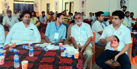 Senior IYC, YC and State Cong leaders at Youth training prog in Jammu.