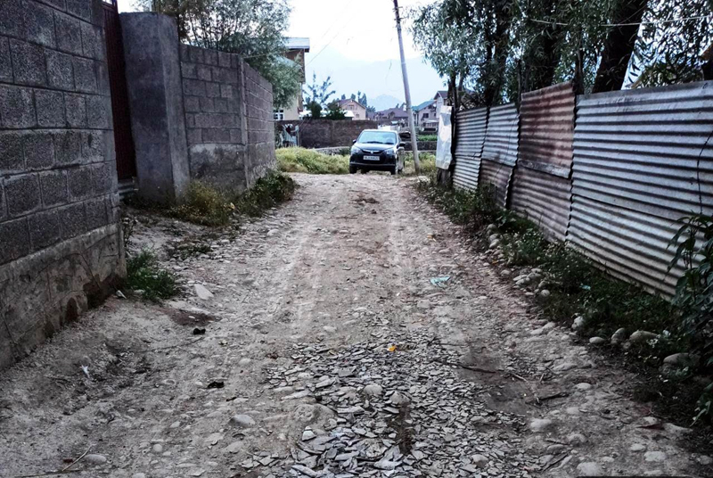 Dilapidated condition of Gangbugh road.