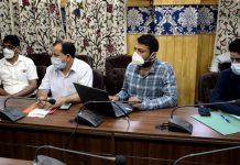 DC Anantnag Dr Piyush Singla inaugurating the App on Friday.