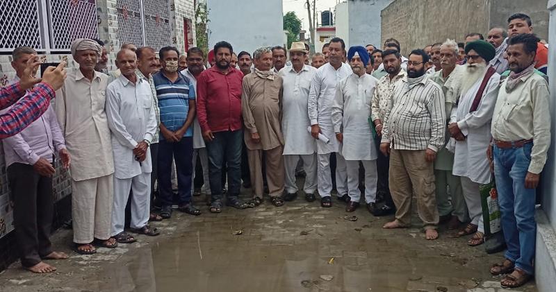 JKSAC members at a meeting in Suchetgarh block on Tuesday.