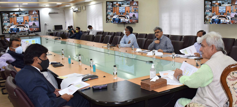 Lt Governor chairing a meeting on Friday.