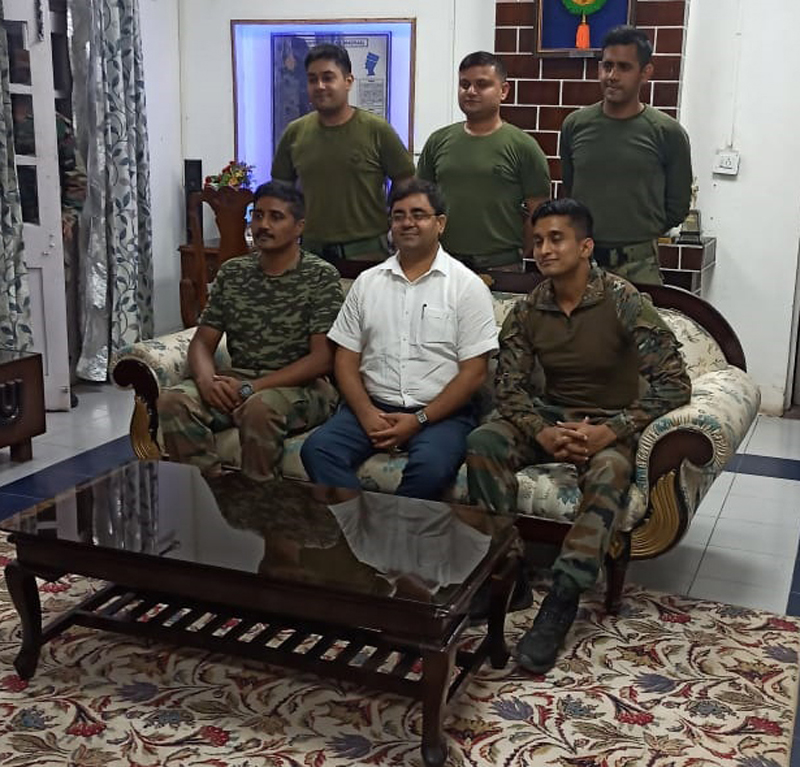 DC Rajouri with Army personnel.