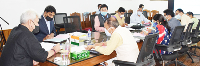 Lt. Governor chairing a meeting on Saturday.