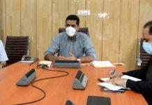 Secretary Tribal Affairs, Dr Shahid Iqbal Choudhary chairing a meeting on Friday.