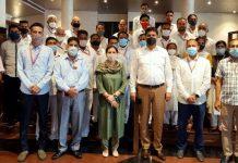Commissioner Secretary Talat Parvez posing with participants of capacity building prog.