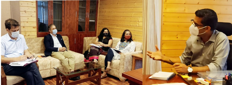 CEO Mission Youth Dr Shahid Iqbal Choudhary chairing a meeting on Wednesday.