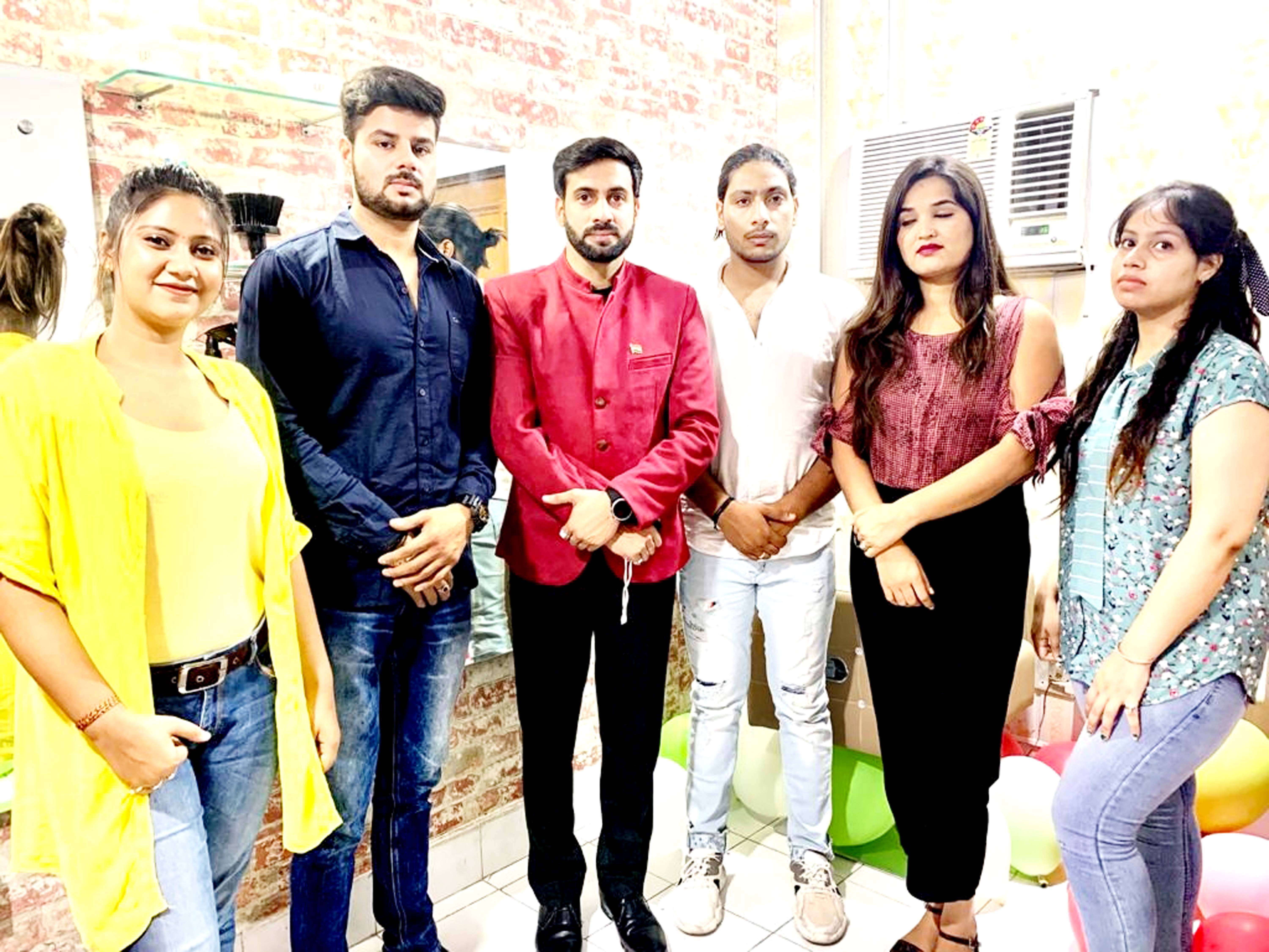 Chairperson Nirbhay Bharat Foundation Tarun Uppal during inauguration of Makeover Studio at Digiana on Monday.