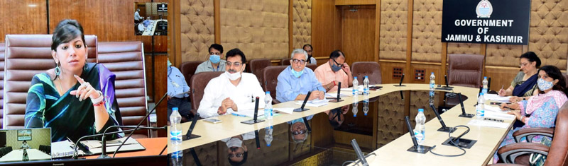 Secretary Cooperatives Department Yasha Mudgal chairing a meeting on Saturday.