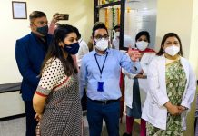 Doctors at Ivy Hospitals after starting hi-tech Infertility Center on Saturday.