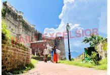 A view of Bhimgarh Fort in Reasi. —Excelsior/Karandeep Singh