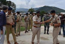 DGP Dilbag Singh during visit to district Baramulla.