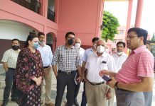 Secretary Tribal Affairs, Dr Shahid Iqbal Choudhary interacting with GDCT members in Jammu on Wednesday.