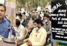 DC Anantnag Dr Piyush Singla addressing public darbar in Anantnag on Wednesday.