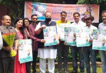 NC Provincial President Devender Singh Rana releasing a Dogri song on Wednesday.
