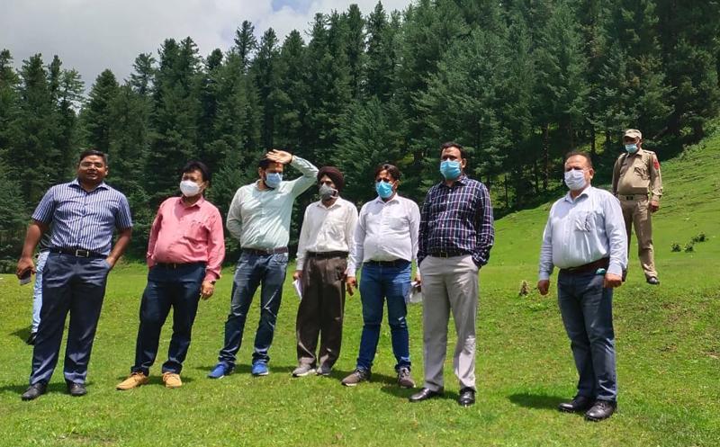 DDC Doda Vikas Sharma during visit to Jai Valley on Wednesday. —Excelsior/Tilak Raj