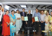 JU VC and others at the signing of MoU between The Business School & ICT Academy.