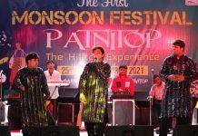 Artists performing at Monsoon Festival at Patnitop.