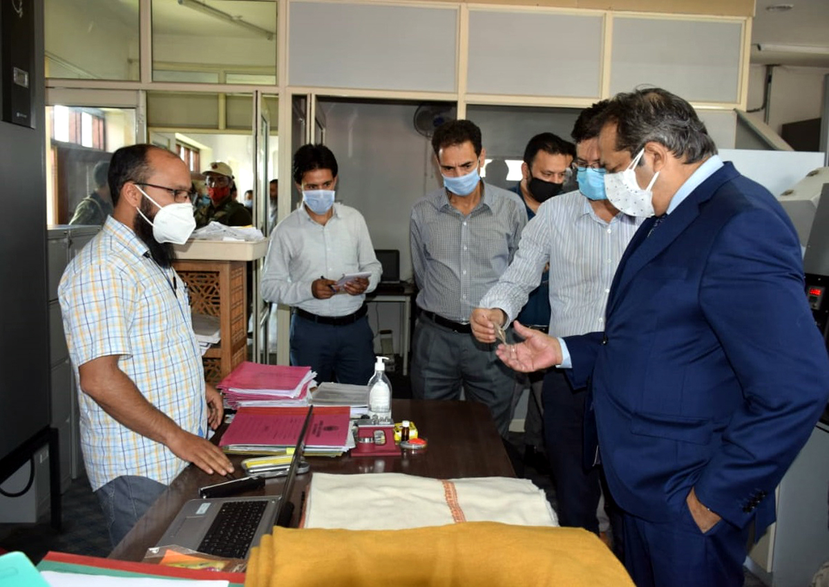 Advisor Baseer Khan during a visit to IICT on Friday.
