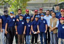 Selected players posing for a group photograph with dignitaries at Srinagar.