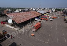 A view of deserted Narwal Mandi in Jammu on Wednesday. — Excelsior/Rakesh