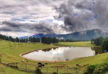 A mesmerizing view of Sanasar lake. — Excelsior/Rakesh