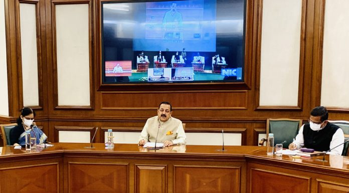 Union Minister Dr Jitendra Singh speaking after inaugurating 2-day Workshop on Capacity Building for Ladakh officials at Leh on Thursday.