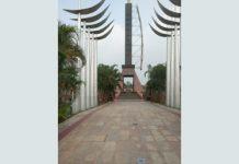 A view of Balidan Stambh in Jammu on Wednesday.